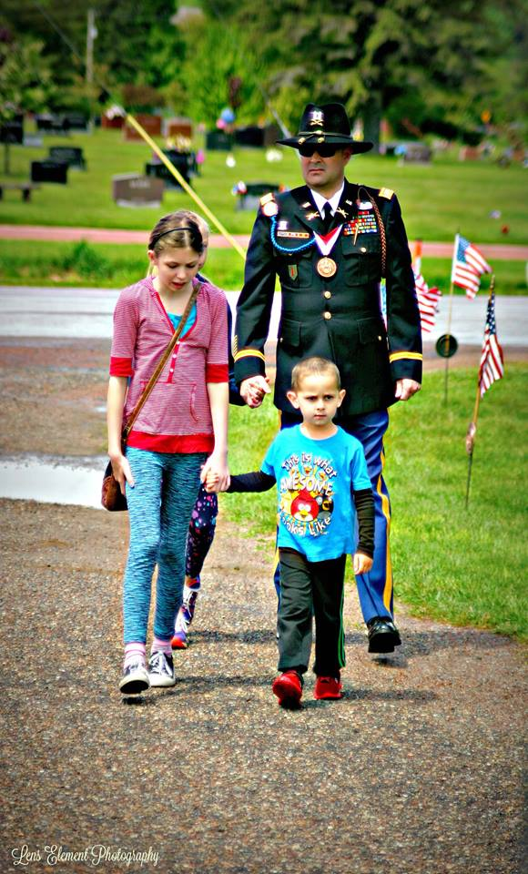 Memorial Day family and soldier