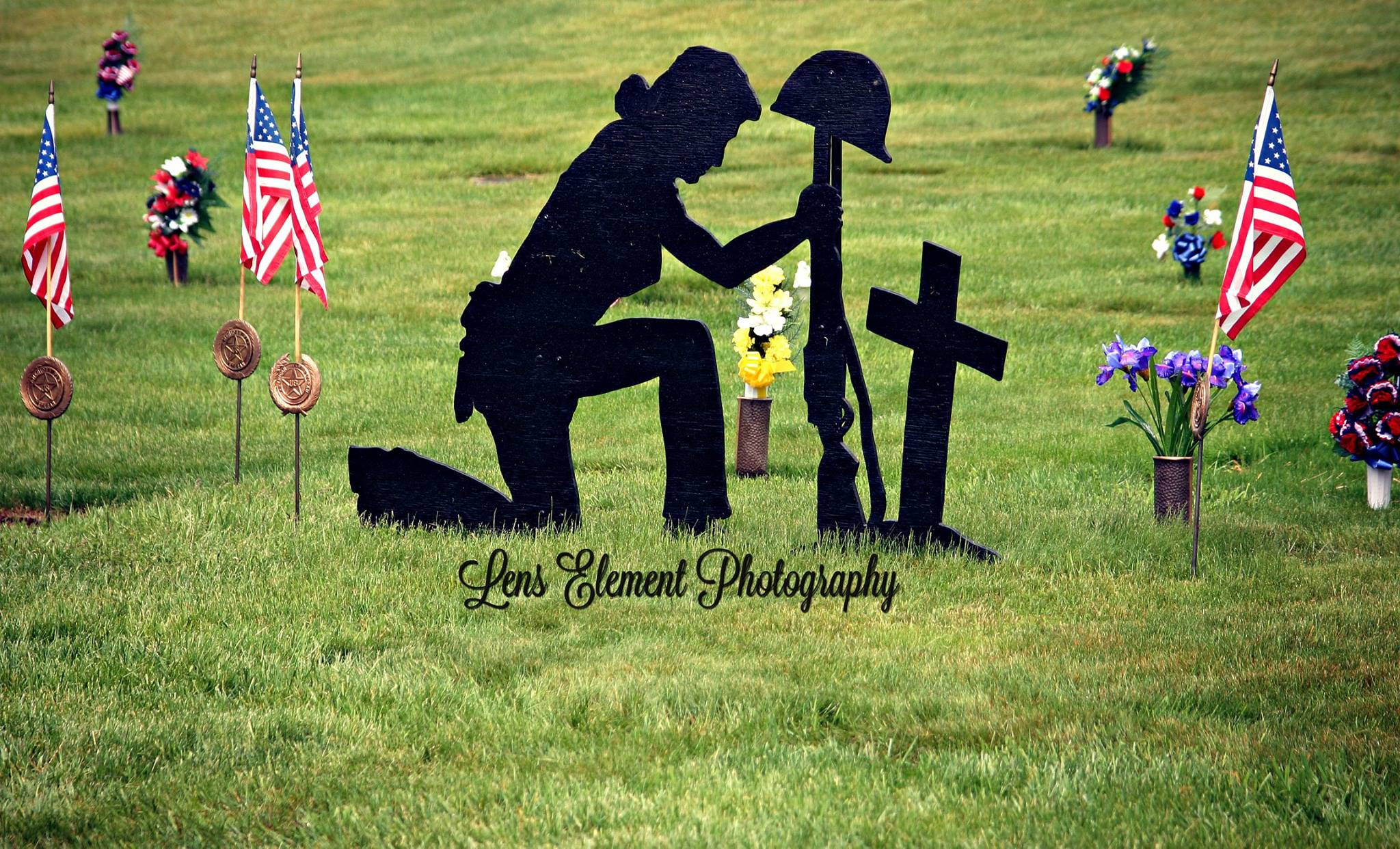silouette cut out memorial day