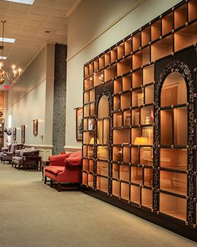 interior cremation niches wall